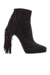 Jeffrey Campbell Sampson Fringe Heeled Bootie Black