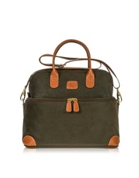 Bric's Life Olive Green Micro Suede Beauty Case Bag