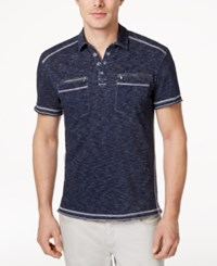 Inc International Concepts Men's Armory Polo Shirt Only At Macy's Basic Navy