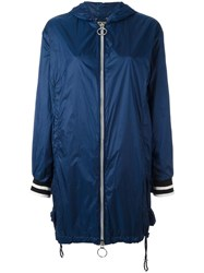 Twin Set Zipped Raincoat Blue