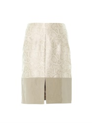 Richard Nicoll Snake Effect Contrast Panel Skirt