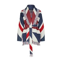 Alanui Cashmere Cardigan Union Jack Multicolor