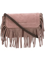 L'autre Chose Fringe Shoulder Bag Pink Purple