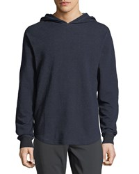 Spiritual Gangster Rise Heathered Knit Hoodie Blue