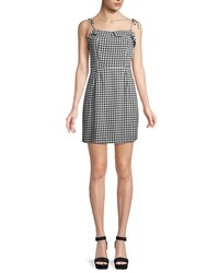Cupcakes And Cashmere Eddie Checked Mini Dress Black Pattern