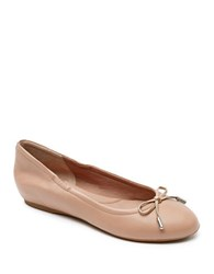 Rockport Total Motion Leather Ballet Flats Taupe