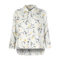 Paisie Floral Blouse With Round Collar And Dip Hem
