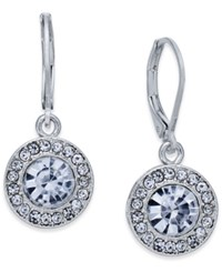 Charter Club Silver Tone Crystal And Pave Disc Drop Earrings Only At Macy's
