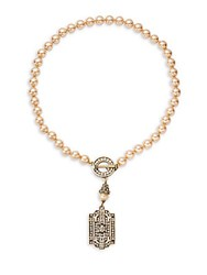 Heidi Daus Swarovski Crystals Dog Tag Necklace No Color