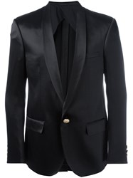 Balmain One Button Blazer Black