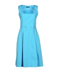 Anneclaire Knee Length Dresses Turquoise