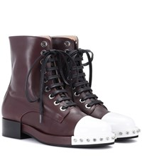 N 21 Leather Ankle Boots Brown