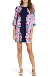 Lilly Pulitzer Ophelia Swing Dress Bright Navy Hypes And Stripes