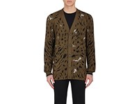 Lanvin Men's Abstract Pattern Elongated Cardigan No Color