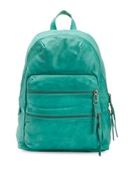 Liebeskind Textured Leather Backpack Green