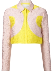 Mary Katrantzou Cropped 'Calligraphy' Jacket Pink And Purple