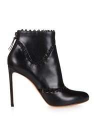 Francesco Russo Cut Out Leather Ankle Boots