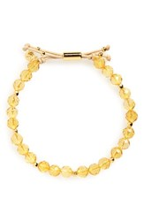 Gorjana Women's Power Semiprecious Stone Beaded Bracelet Citrine Gold