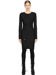 A.F.Vandevorst Lace Up Stretch Virgin Wool Dress