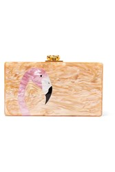 Edie Parker Jean Glittered Acrylic Box Clutch Copper