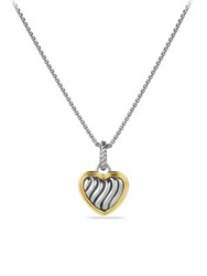 David Yurman Cable Collectibles Heart Charm With Gold Silver Gold