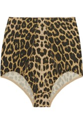 Base Range Ravenna High Rise Leopard Print Stretch Bamboo Briefs Animal Print
