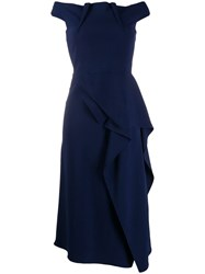 Roland Mouret Arch Dress Blue
