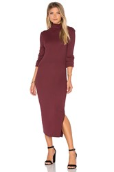 Cotton Citizen Melbourne Midi Dress Burgundy