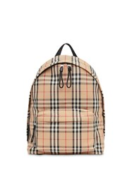 Burberry Vintage Check Nylon Backpack Neutrals