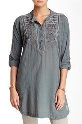 Biya Embroidered Tunic Gray