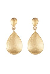 Kenneth Jay Lane Hammered Metal Earrings Gold