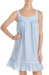 Eileen West Embroidered Chambray Chemise