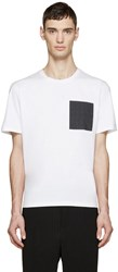 Wooyoungmi White Embroidered Pocket T Shirt