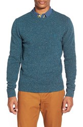 Men's Original Penguin Donegal Lambswool Blend Crewneck Sweater Seaport