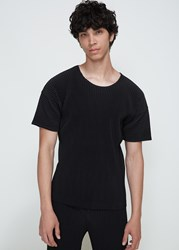 Homme Plisse Issey Miyake 'S Basics T Shirt In Black Size 2 Poly