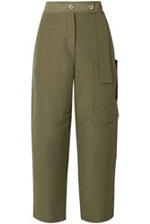 Acne Studios Peganne Coated Canvas Straight Leg Pants Army Green