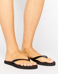 Pieces Vera Black Flip Flop Sandals Black