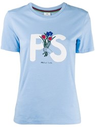 Paul Smith Ps Printed T Shirt Blue