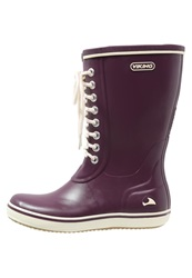 Viking Retro Light Wellies Plum Dark Purple