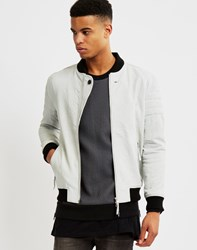 Religion Leven Leather Bomber Grey