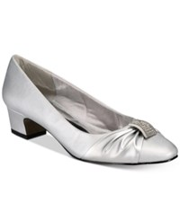 Easy Street Shoes Eloise Pumps Women's Silver Satin Silver