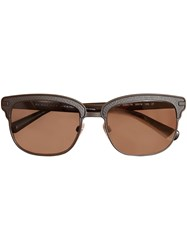 Burberry Textured Front Square Frame Sunglasses Black