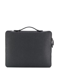 Salvatore Ferragamo Fold Out Briefcase Black