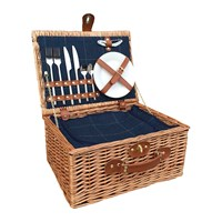 Amara Blue Tweed Hamper 2 Person