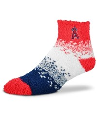 For Bare Feet Los Angeles Angels Marquee Sleep Soft Socks Red Navy White