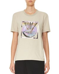 Carven Short Sleeve Graphic Jersey Tee Gray