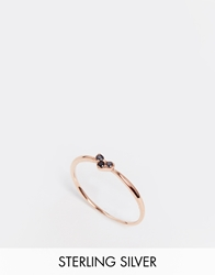 Asos Rose Gold Plated Sterling Silver Fine Heart Ring Rosegold