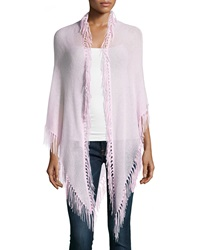 Minnie Rose Cashmere Fringe Trim Wrap