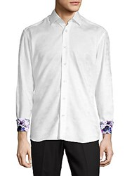 Bertigo Butterfly Button Front Shirt White