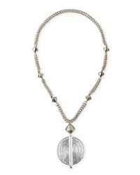 Silver Medallion Necklace Nest Jewelry
